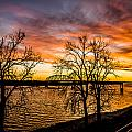 Sunset Over The Mississippi River by Paul Brooks