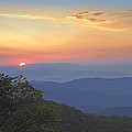 Sunset Over The Pisgah National Forest by Tim Fitzharris