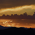 Sunset Over The Tucson Mountains by Susan Degginger