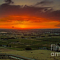 Sunset Over The Valley by Robert Bales