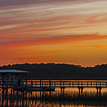 Sunset Over The Wando River by Dale Powell