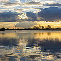 Sunset Over The Water by Mark Burn