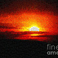 Sunset Painting by George Fedin and Magomed Magomedagaev