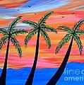 Sunset Palms by JoNeL Art