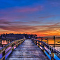 Sunset Pier Fishing by Marvin Spates