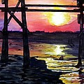 Sunset Pier by Lil Taylor