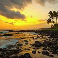 Sunset, Poipu, Kauai, Hawaii, Usa by Danita Delimont