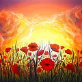 Sunset Poppies by Lilia D
