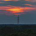 Sunset Power Over Pine Barrens Nj by Terry DeLuco