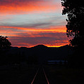 Sunset Rail In The Rogue Valley by Mick Anderson