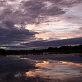 Sunset Reflected In A Lake by Steve Ball