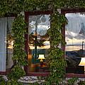 Sunset Reflection On Empress Window by Carol Groenen