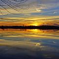 Sunset Riverlands West Alton Mo Dsc03329 by Greg Kluempers