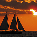 Key West Sunset Sail 3 by Bob Slitzan