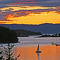 Sunset Sail In The Bay by Peggy Collins