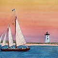 Sunset Sail by Sharon Farber