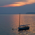 Sunset Sailboat by Jack Zievis