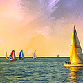 Sunset Sailing by Dominic Piperata
