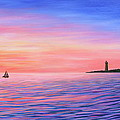 Sailing Toward The Lighthouse by Kristine Mueller Griffith