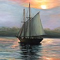 Sunset Sails by Eileen Patten Oliver