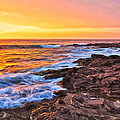 Sunset Shore Break by Dominic Piperata