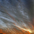 Sunset Sky With Cirrocumulus Clouds Usa by Sally Rockefeller