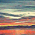 Davis Bay Sunset  by Stanley  Funk