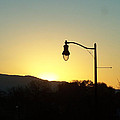 Sunset Street Light by Jennifer Allen