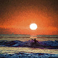 Sunset Surfer by Don Harper