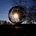 Sunset Through The Unisphere by Karen Silvestri