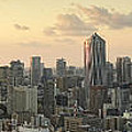 Sunset Tokyo Tower Panorama by For Ninety One Days