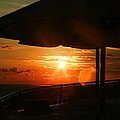 Sunset Under The Umbrella By Diana Sainz by Diana Raquel Sainz