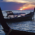 Sunset View From Sunset Beach On Ko Lipe Island In Thailand by Roberto Morgenthaler