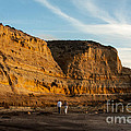 Sunset Walk At Flat Rock  La Jolla California by Darleen Stry
