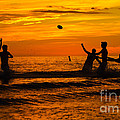 Sunset Water Football by Anne Kitzman