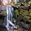 Sunset Waterfalls In Marlay Park by Semmick Photo