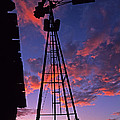 Sunset Windmill by Doug Davidson