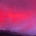 Sunset With Lightning And Rainbow Four by Panoramic Images