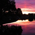 Sunset With Reflection by Zina Stromberg