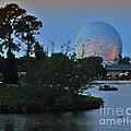 Sunset World Showcase Lagoon by Thomas Woolworth