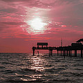 Sunsetting On The Gulf by Bill Cannon