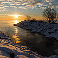 Sunshine On The Ice - Lake Ontario Toronto Canada by Georgia Mizuleva