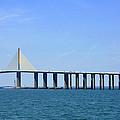 Sunshine Skyway Bridge II Tampa Bay Florida Usa by Sally Rockefeller