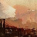 Sunsrise Over Brooklyn Bridge by Steve K