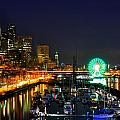 Super Bowl Eve In Seattle by Donna Read