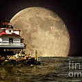 Super Moon Lighthouse by Skip Willits