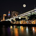 Super Moon Over Cleveland by Brian  Bendlock