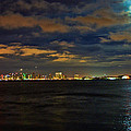 Super Moon Over San Diego 1 by Tommy Anderson