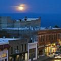 Super Moonrise Over Jerome Arizona by Ron Chilston