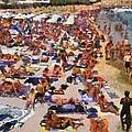 Super Paradise Beach In Mykonos Island by George Atsametakis